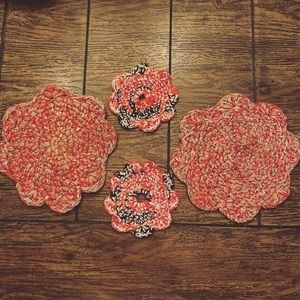 Vintage Rugged Red Cabin Coasters